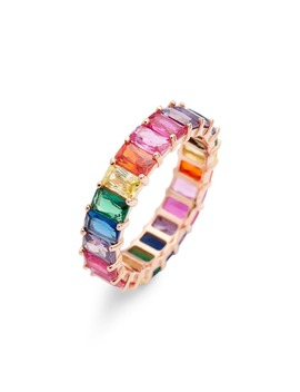 Rainbow Crystal Ring by Adina's Jewels