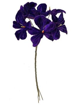 Czech Velvet Violets Bundle Of 6 Royal Purple Millinery Flowers Nfc035 Nl Vp by Etsy