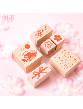 Cherry Blossom Series Japanese Style Stamp Diy Wooden Rubber Stamps For Scrapbooking Stationery Scrapbooking Standard Stamp by Ali Express.Com