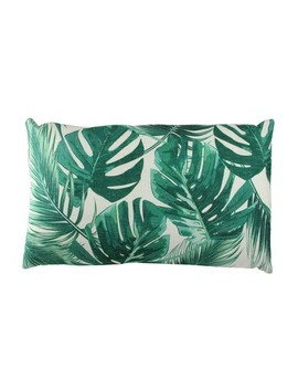 "Northlight 11"" X 19"" Rectangular Tropical Leaves Linen Indoor Throw Pillow   Green by Green"
