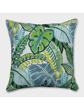 "25"" Aruba Jungle Floor Pillow Blue   Pillow Perfect by Pillow Perfect"