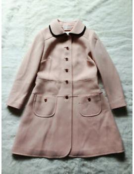 Ted Baker Pale Pink Black A Line Dress Coat Jacket Retro Vintage Wedding 2 10 S by Ted Baker