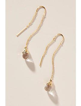 Heather Hawkins Briolette Threader Earrings by Heather Hawkins