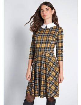 Perfectly Proper Knit A Line Dress by Modcloth