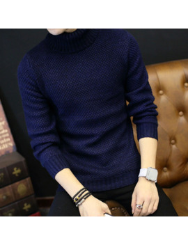 2018 Winter Mens Turtleneck Sweaters Pullovers Clothing Warm Thick Men Cotton Knitted Sweater Male Sweaters Pull Homme Xxxl 50 by Ali Express.Com