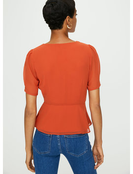 New Button Front Blouse by Wilfred