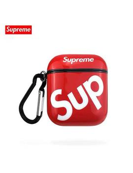 Red Supreme Sup Logo Air Pods Case by Etsy