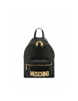 Faux Leather Backpack With Lettering Logo by Moschino