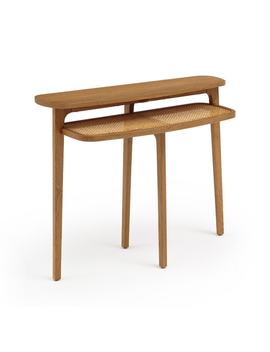 Buisseau Oak And Cane Console Table by La Redoute Interieurs