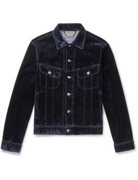 Stretch Cotton Blend Velvet Trucker Jacket by Ralph Lauren Purple Label