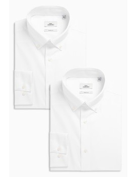 White Button Down Collar Shirts Two Pack by Next