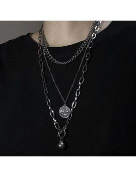 Banash   Alloy Coin Pendant Layered Necklace by Banash