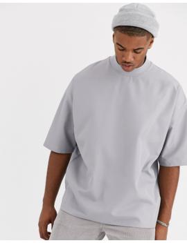 Asos Design – Übergroßes T Shirt Mit Halblangen Ärmeln Aus Gewebtem Stoff by Asos
