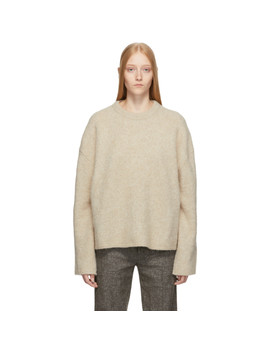 Off White Cashmere & Mohair Oversized Biella Sweater by TotÊme