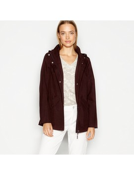 Plum Fleece Lined Rain Resistant Jacket by Maine New England