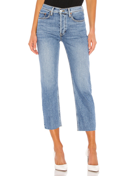 Stovepipe Jean In Medium Stone by Re/Done