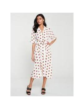 Button FrontBuckleDetail Midi Dress   Spot/Print by V By Very