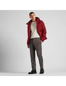 Men Ezy Jersey Checked Ankle Length Trousers by Uniqlo