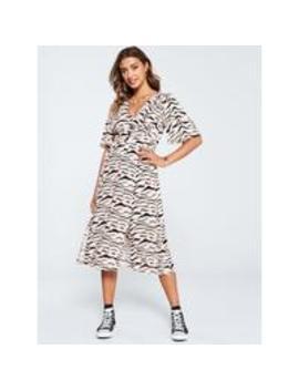 Button Kimono Dress   Zebra Print by V By Very