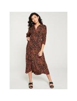 Brushed Leopard Shirt Dress   Brown Multi by Whistles