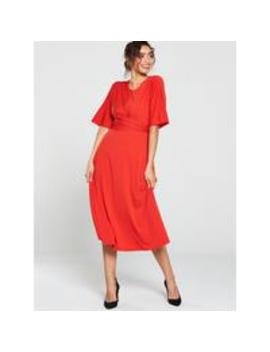 Ted Baker Syrrina Cross Over Wrap Midi Dress by Ted Baker