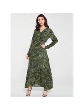 ShannenAnimal Print Ruffle Dress   Green by Y.A.S