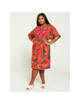 Printed Wrap Dress   Tropical by V By Very Curve