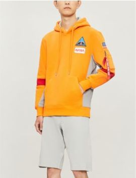 Space Camp Cotton Blend Hoody by Alpha Industries