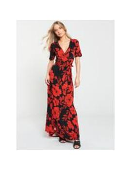 Wrap Jersey Maxi Dress   Floral Print by V By Very