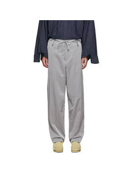 Grey Warm Up Trousers by Fumito Ganryu