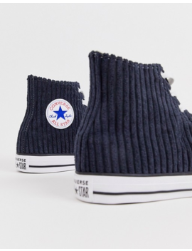 Converse Chuck Taylor All Star Cord Plimsolls In Navy by Converse