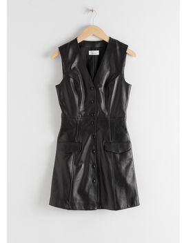 Leather Sleeveless Mini Dress by & Other Stories