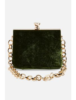 Margot Velvet Frame Bag by Topshop