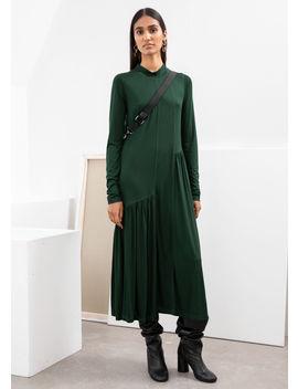 Asymmetric Turtleneck Midi Dress by & Other Stories