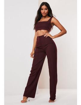 Pantalon Prune Droit Avec Couture by Missguided