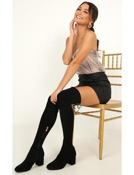 Billini   Fallon Boots In Black Micro by Showpo Fashion