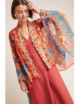 Hayley Mixed Print Kimono by Anthropologie