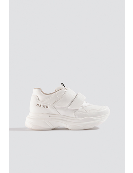 Chunky Sneakers Velcro Vit by Na Kd Shoes