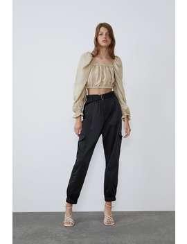 Top Cropped Volumen Camisastrf by Zara
