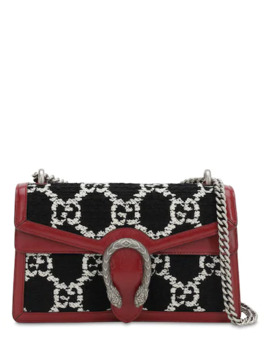 Small Dionysus Gg Cotton Blend Tweed Bag by Gucci