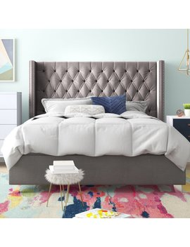 Queen Gray Tori Upholstered Platform Bed by House Of Hampton