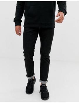Emporio Armani J06 Slim Fit Black Wash Jeans by Emporio Armani