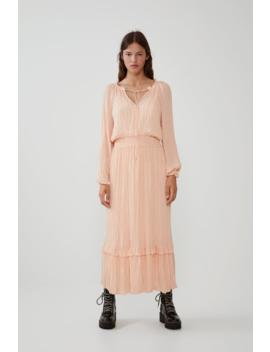 Vestido Volumen Plisados Ver Todo Vestidos Mujer by Zara