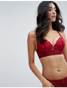Ann Summers Viola Lace Plunge Longline Bra by Ann Summers
