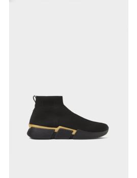 Sock  Style Hightop Sneakers Shoes Man by Zara