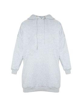 Grey Oversized Boyfriend Hoodie Jumper Dress  by Prettylittlething