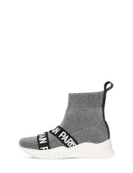 Lurex Knit Sock Sneakers by Balmain