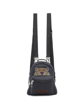 Grey Mini Tiger Backpack by Kenzo