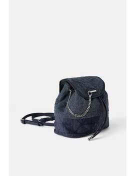 Rucksack Aus Frottee Stoff Rucksäcke Taschen Damen by Zara