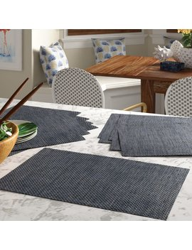 """Blue Brown Kenwood 18"""" Placemat by Bay Isle Home"""